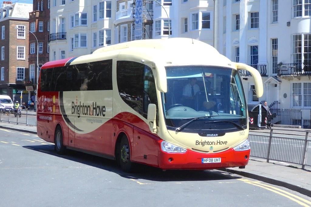 Brighton and Hove Fleet 502 | Scania Irizar, Fleet 502 HF 08