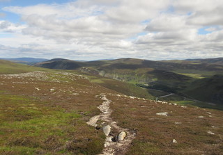 Looking back on the ascent of Meall Gaineimh   by malky_c