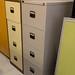 Grey filing cabinet E100