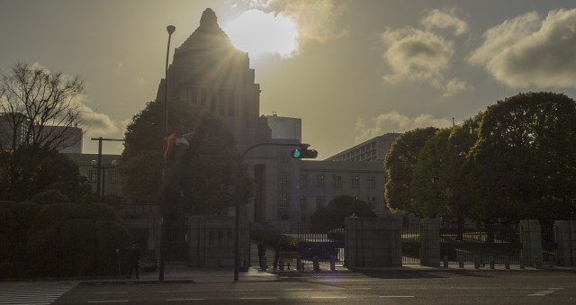 The scenery in the National Diet Building