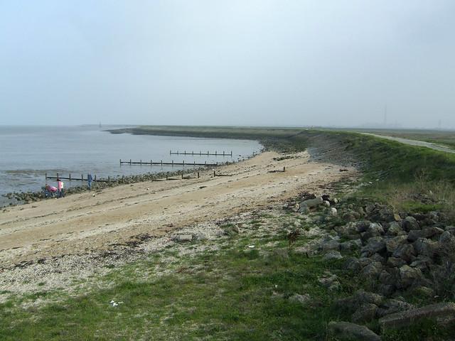 The coast east at Allhallows-on-Sea
