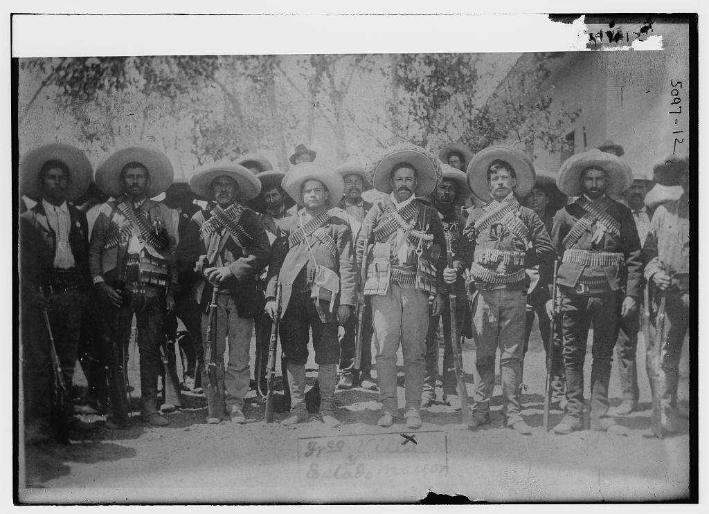 [Pancho Villa & staff] (LOC)