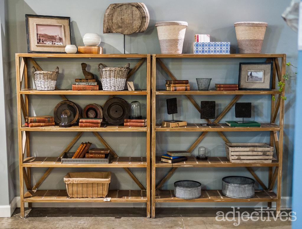 Mahogany bookshelves and decor items by  Adjectives Altamonte-3247.NEF