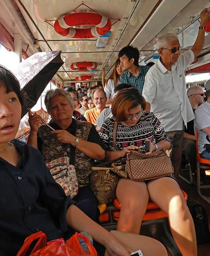 A tad crowded on a Bangkok ferry