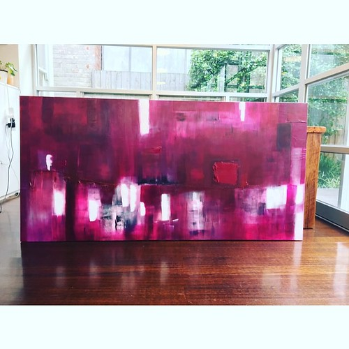 Very excited another #art #commission finished #melbourne #artist @vivianashworth_ #abstractart #painting #melbourneart #melbourneartist #homedecor #interiordesign #inspiration #purple | by vivianashworth