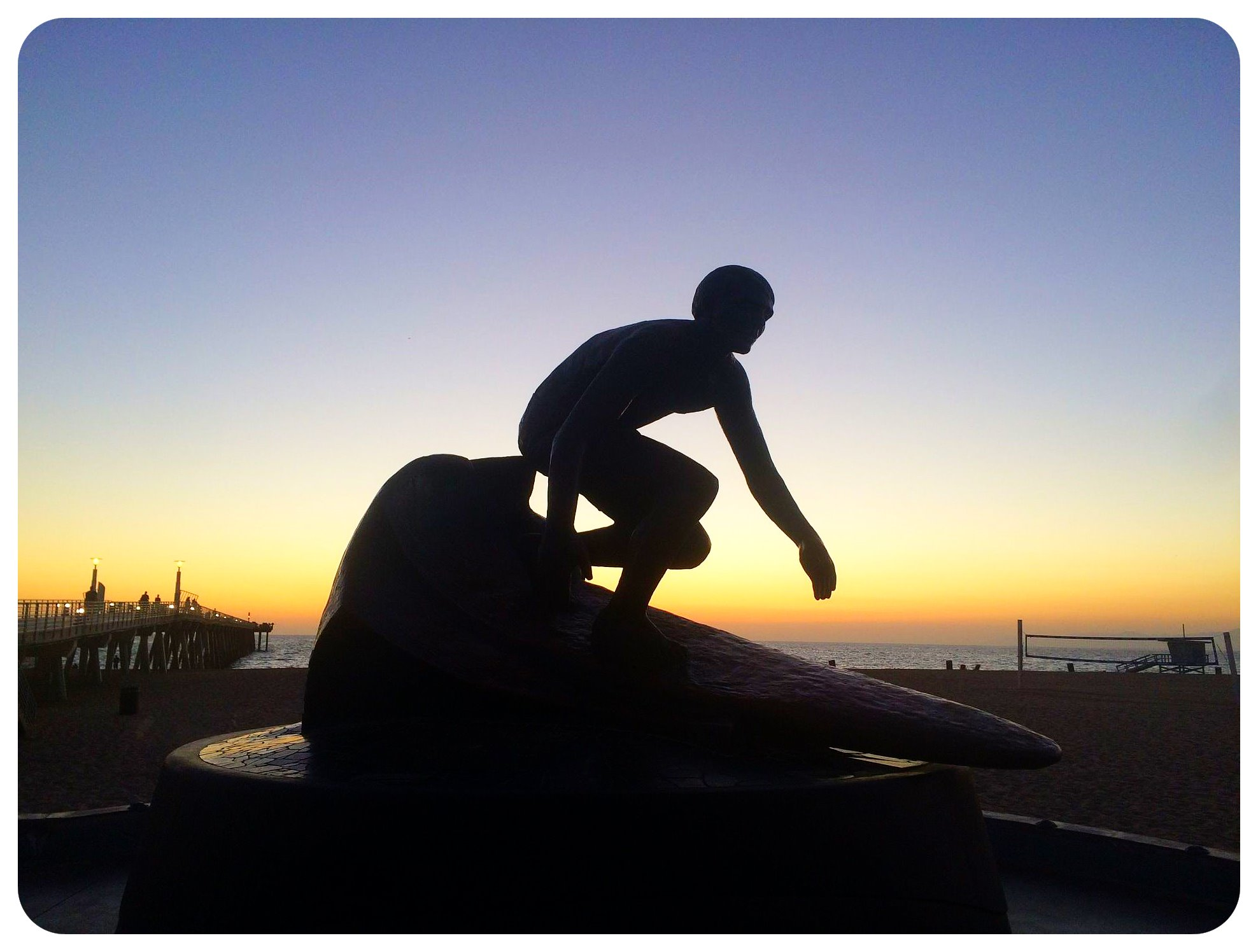 hermosa beach surfer sculpture