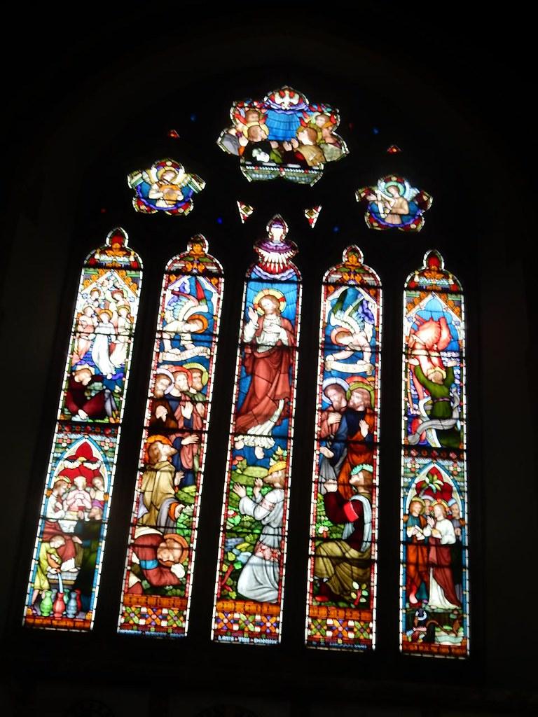 Altar window Ely Circular St James Church, Stretham