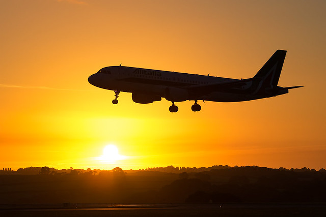 Alitalia - Airbus A320-216 EI-DTB @ Cardiff Rhoose
