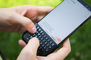 Samsung Galaxy S8+ smartphone and Samsung Keyboard Cover | by Andri Koolme