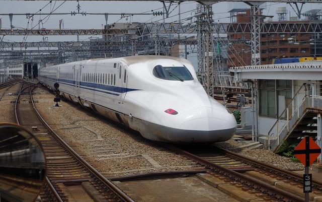 JR Central N700A Shinkansen G10 leaving Shin-Osaka Station, 16-6-17