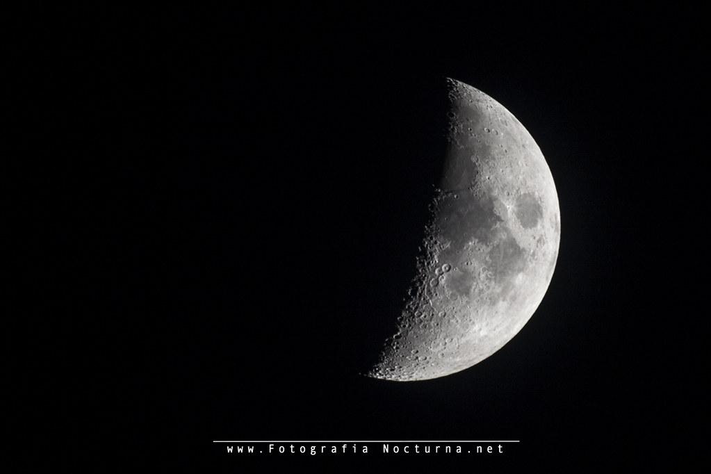 Luna en cuarto creciente - MTO1000A | La luna en fase cuarto… | Flickr