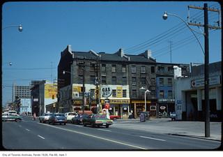 Daniel Brooke building, north-east corner, Jarvis Street and King Street East