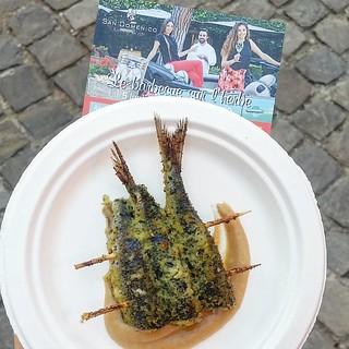 """""""Le barbecue sur l'herbe"""" al ristorante San Domenico di Imol. Una splendida serata, un picnic-barbecue con deliziosi piatti alla griglia, ottimi vini e divertente compagni di avventura."""