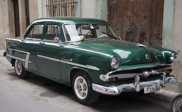 1953 Green Ford Customline Taxi, Havana, Cuba