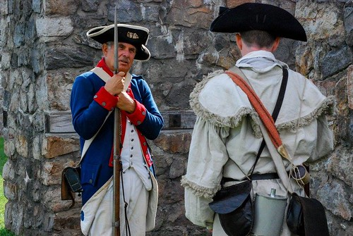 Photo of Historic Interpreters Dressed as Revolutionary War soldiers