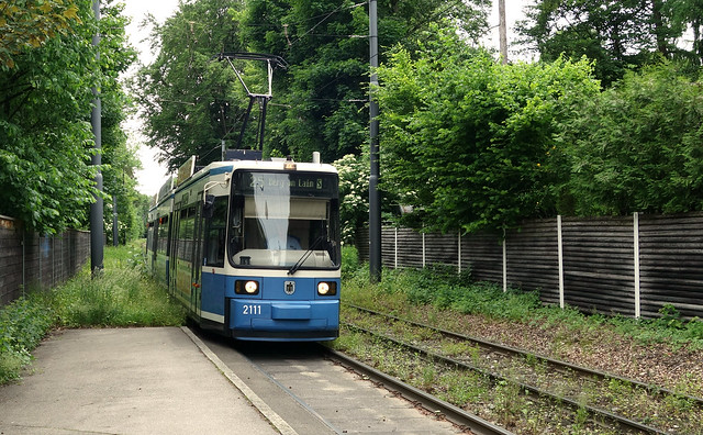 Tramways in Munich Germany 2017