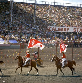 Flag procession at the Calgary Stampede