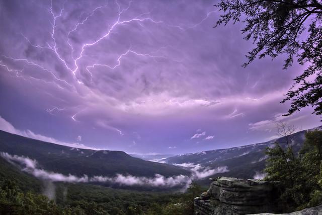 Lightning, Welch Point, Bridgestone Firestone Centennial Wilderness WMA, White County, Tennessee