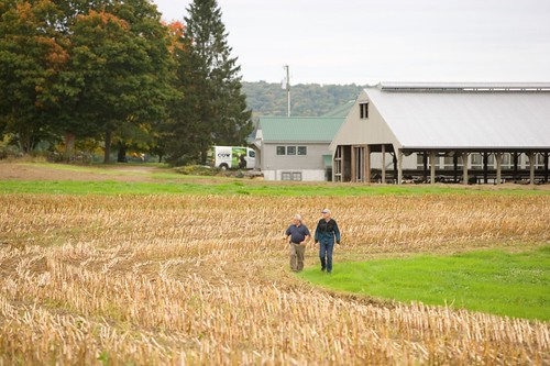 Producers surveying a field in the Northeast | by USDAgov