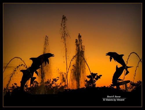 sunset sarasota statue bayfront park bayfrontpark