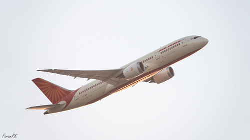 787 airindia aircraft backlight boeing dreamliner jet sunrise vtanb ahmedabad gujarat india in