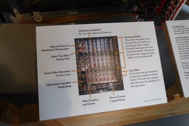 The innards of the Turing Bombe rebuild project at Bletchley Park code breaking museum