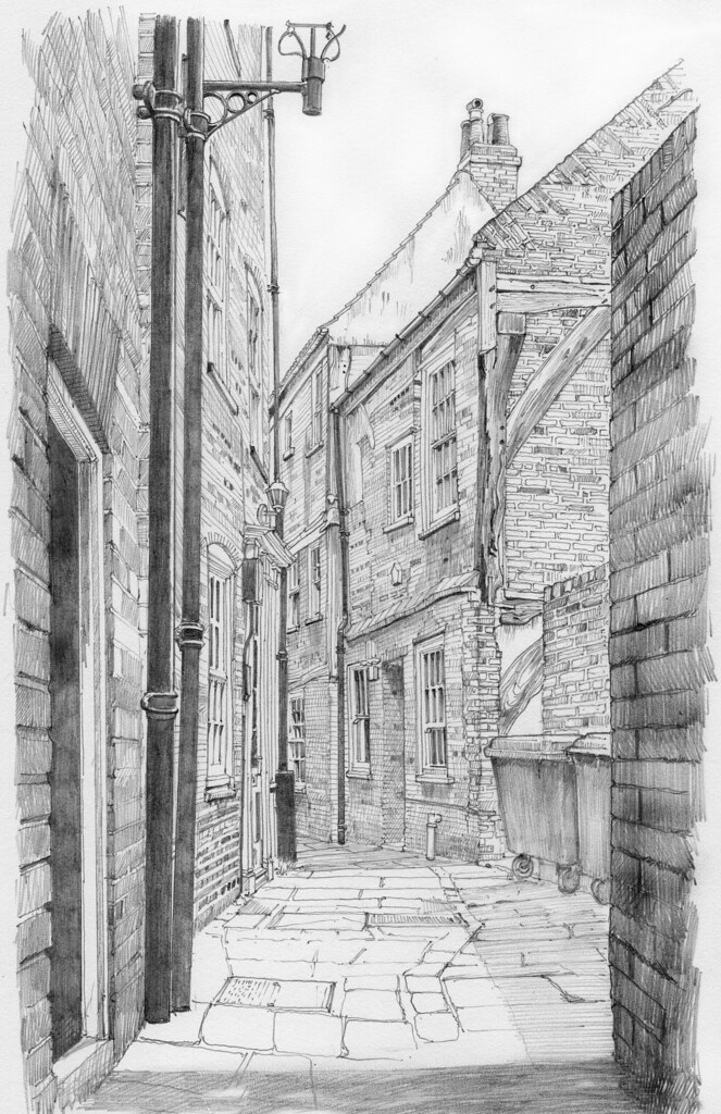 Mad Alice Lane from the Swinegate end, a snickelway in York