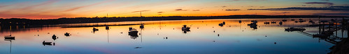 baileyisland harpswell maine orrsisland harbor sundown sunset dusk panorama reflection boats silhouette