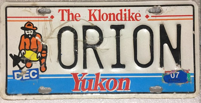 YUKON 2007---PERSONALIZED LICENSE PLATE ---ORION---