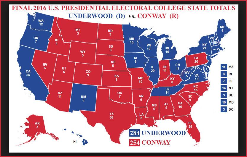 Final Underwood-Conway 2016 Presidential Electoral College ...