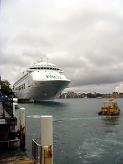 P&O Cruise Ship 'Pacific Jewel' moored in Sydney Cove