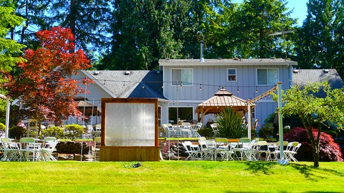 Backyard Wedding Setting | by Only in Oregon