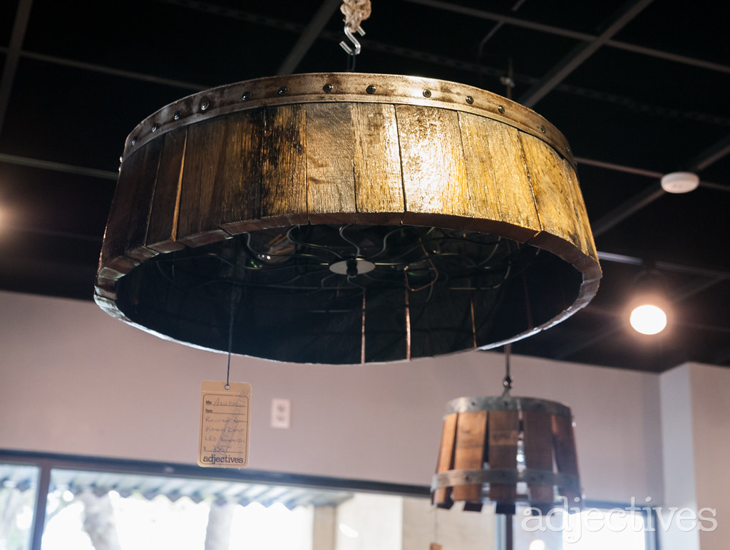 Custom lighting made from wine barrels by A Wine of a Kind in Adjectives Altamonte-3235.NEF