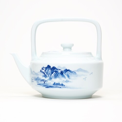 THÉIÈRE BLUE CHINA GREAT LANDSCAPE