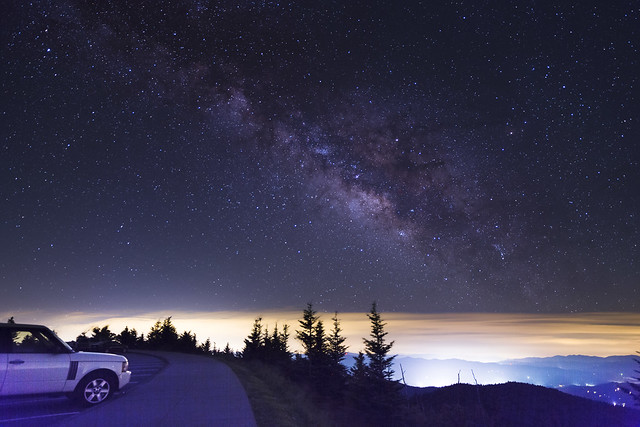 The Milkyway at the Smoky Mountains.