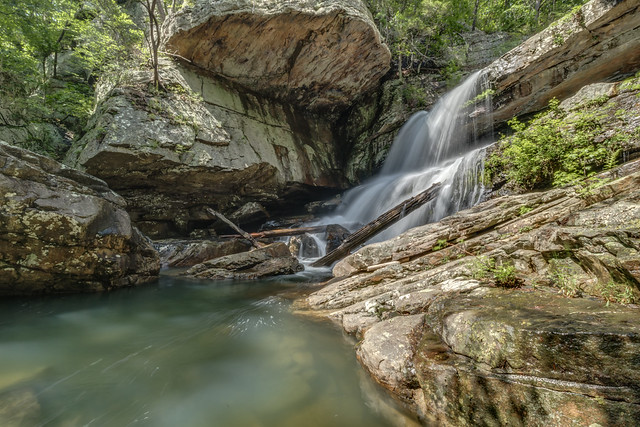 Upper Paine Creek Falls, Laurel Snow Pocket Wilderness SNA, Rhea County, Tennessee 1