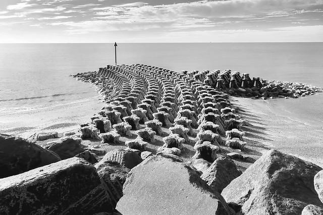 Apocalyptic beach party, Felixstowe (IR)