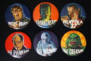 Monster Buttons (Elwar 1960's)
