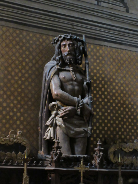 Jesus bound, statue in chapel, Albi Cathedral, France