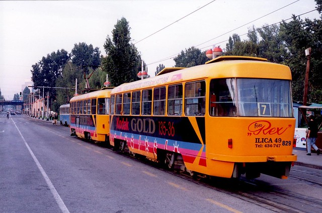 Tatra T4YU 429+829 Zagreb  Croatie Hrvatska 1994a