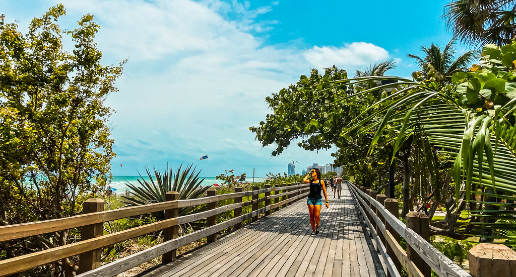 the miami beach woodwalk. | the boardwalk although other