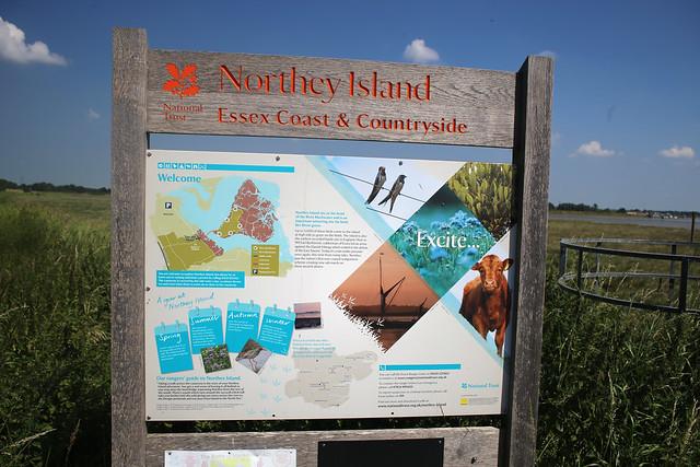 Northey Island sign
