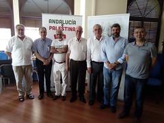 Reunión FAMSI, ASECOP y alcaldes palestinos Raqui K. Abd Nafiqa, alcalde de AL RAM, Jerusalén e Issam AM Faum Raba, alcalde de Al Alcareya