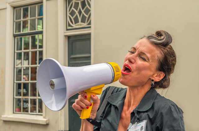 Singing in the megaphone