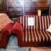 3 plus 2 wine and gold stripe fabric suite E300