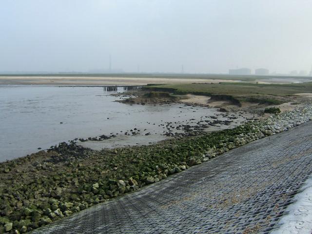 The coast east of Allhallows-on-Sea