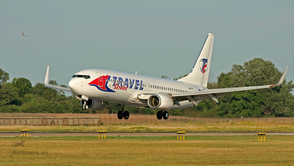 OM-GTF Travel Service Boeing 737-86J(WL)