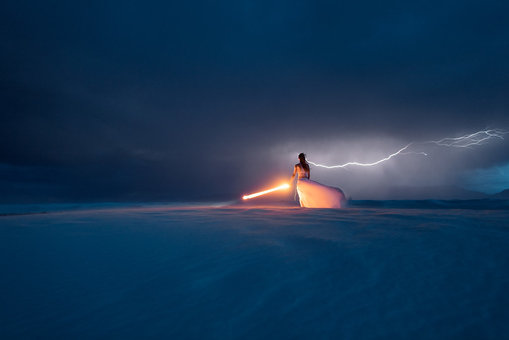 Thunderstorm at the White Sands