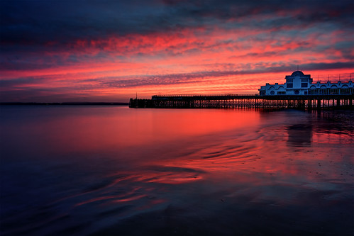 sunset redsky longexposure southparadepier southsea portsmouth hampshire