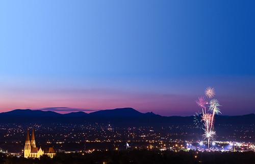 fireworks helena montana brewers minorleaguebaseball baseball sky summer sunset